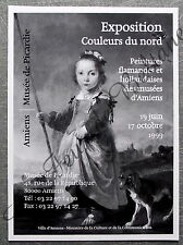 Publicité Exposition Peinture flamande hollandaise Musée Amiens   1999 , advert