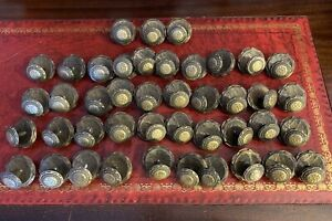 Antique Vintage Dresser Drawer Pull Knobs Brass 43 In Lot