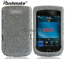 For BlackBerry Torch 9800 9810 Crystal Diamond Bling Hard Case Cover Silver