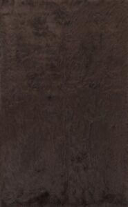 Thick-Plush Modern Shaggy Oriental Hand-tufted Area Rug DARK BROWN Carpet 5'x7'