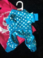Gorgeous Top Quality Chihuahua Jumpsuit One Piece Blue Spot XS Clothing Dog Pupp