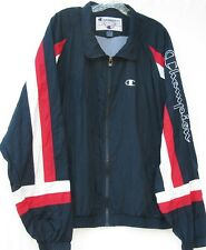 Champion long sleeve 2 pocket zip front nylon windbreaker jacket men's size XL