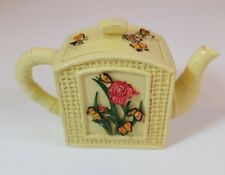 Nini Collectible Miniature Hand Painted Teapot Trinket Holder Flower