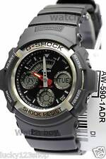 AW-590-1A Black Red G-Shock Men's Watches Casio Digital Analog Resin Band 200m