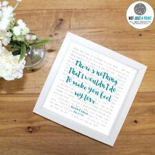Bob Dylan 'Make You Feel Your Love' -  Framed Song Lyrics Poster -  Gift