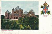 TORONTO ON – Parliament Buildings – udb (pre 1908)