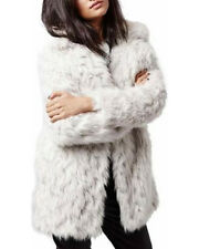 BNWT TOPSHOP SIZE 8-10 FAUX FUR CREAM BEIGE COAT JACKET WOMENS LADIES OFF WHITE