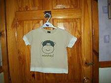 ***LOOK***  SALE NEXT BEIGE MONKEY T-SHIRT 18-24 MTHS***