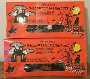 Vintage Halloween Pumpkin Lights 2 Sets of 10 All Working