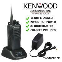 Kenwood TK-3400 TK-3400U16P 16 Channel 2W Ready To Use UHF Two Way Radio