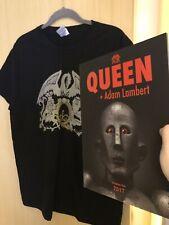 Queen + Adam Lambert 2017 Official Programme + Japan T Shirt (new)