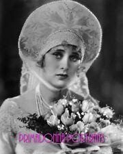 DOLORES COSTELLO 8X10 Lab Photo 1920s Bridal Gown w/ pearls, Silent Era Portrait