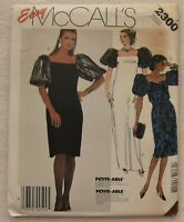 Vintage Dress & Gown Sewing Pattern*McCalls 2300*Size 14*UNCUT/FF*puff sleeve