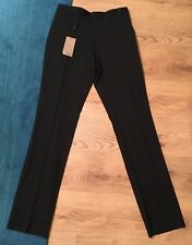 "Men's Genuine Burberry Black Formal Trousers. Waist 30"" Leg 36"" New Tagged"