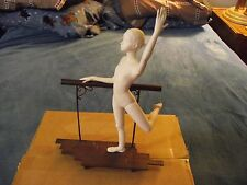 Vintage Retired Boehm Ballerina Porcelain Figurine on Metal Balance Beam Damaged