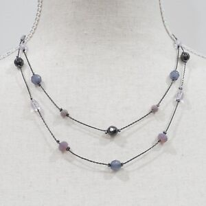 LOFT Outlet Women's Purple Beads and Layers Necklace NWT