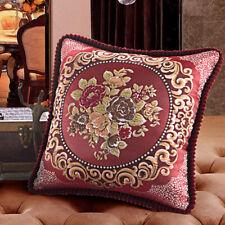 Throw Sofa Pillow Case PillowCover Embroidery Floral Cushion Cover Home Decor