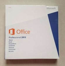 Microsoft Office Professional 2013 English Retail DVD with keys -Sealed-