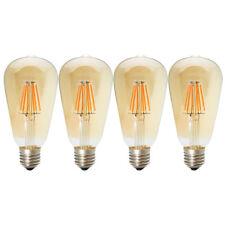 4X ST64 E27 6W LED Filament Edison Lampe Vintage Retro Stil Glühbirne Braunglas