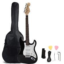 Rose Wood Fingerboard Electric Guitar Monochrome +Gigbag +Cord+Strap+Accessories