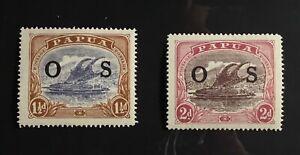 Papua overprinted OS