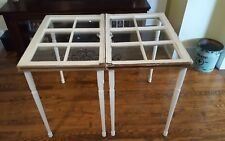 Salvage reclaimed end side tables night stands windows sashes furniture decor