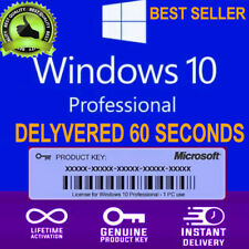 Windows 10 Pro Key Professional Genuine Activation License Code Key Instant Deli