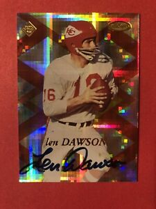 1998 Collectors Edge Len Dawson Auto Autograph Serial #'d 653/2000