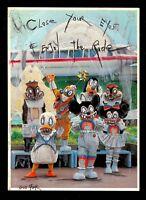 GUS FINK art ORIGINAL Painting antique lowbrow horror goth disney ENJOY THE RIDE