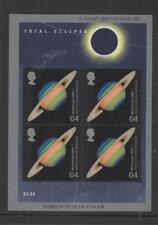 Gb 1999 Total Eclipse Miniature Sheet Sg:Ms2106 Mint Stamp Sheet See Scan Ms2106