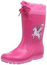 BECK Kinder Mädchen Gummistiefel Einhorn Pink 498