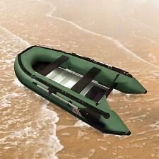 ALEKO Inflatable Boat With Aluminum Floor 4Prs Raft Sport Motor 10.5Ft Green