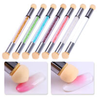 Double-ended Gradient Shading Dotting Pen Sponge Rhinestone Handle Nail Art Tool
