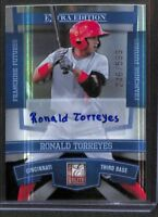 2010 Donruss Elite Extra Edition Franchise Futures Autograph #92 Ronald Torreyes