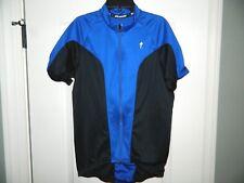 Specialized Cycling Blue & Black Biking Bicycle Shirt Size Medium