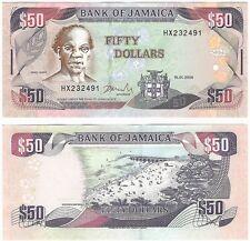 Jamaica 50 Dollars 2004 P-79e UNC Uncirculated Banknote - Beach