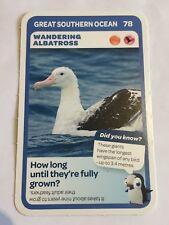 Taronga Zoo Woolworths Aussie Animal Card #78 Wandering Albatross