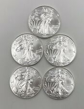 2018 AMERICAN SILVER EAGLE LOT OF 5  COINS  GEM-CHBU