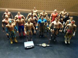 WWE Basic and Elite Figure Lot Mattel Loose Played With Hulk Hogan RVD CM Punk