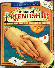 "VINTAGE 1995 MINIATURE POP UP BOOK ""THE POETRY OF FRIENDSHIP"" ART BY JOHN CRAIG"
