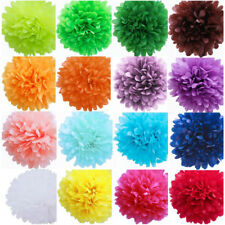"5Pcs Tissue Paper Pom Poms Flower Balls Wedding Party Decoration 6"" 8"" 10"" 12"""