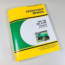 OPERATORS MANUAL FOR JOHN DEERE 655 755 855 955 TRACTOR OWNERS SN 010001-UP