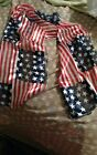 4th Of July Scarf American Flag Patriotic Stars & Stripes Scarf Red White Blue