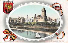 POSTCARD  EXHIBITION  BRUXELLES   1910    Pavillions  Uruguay  and  Italian
