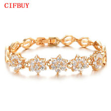 CIFBUY Women's Bracelets Romantic Gold Color + AAA+ Cubic Zircon Wedding Bangles