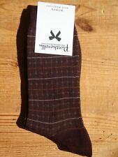 Unisex Pantherella Merino-Wool Maroon/Brown-Red 38/39/40/41 4/5/6/7 - Made in UK