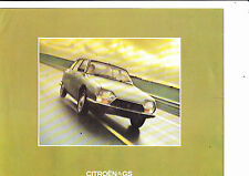 CITROEN GS brochure - 1973 - excellent condition