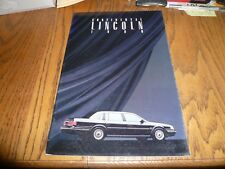 1990 Lincoln Continental Sales Brochure - Vintage