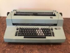 CLASSIC IBM CORRECTING SELECTRIC II GREEN ELECTRIC TYPEWRITER ~ WORKS