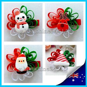 Christmas Girl Women Hair Clip Hairpins Bowknot Accessorize Children Kids Gift